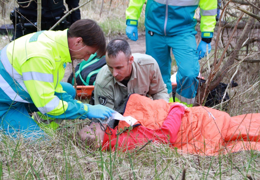 Grote oefening hulpdiensten in de duinen van Noordwijk