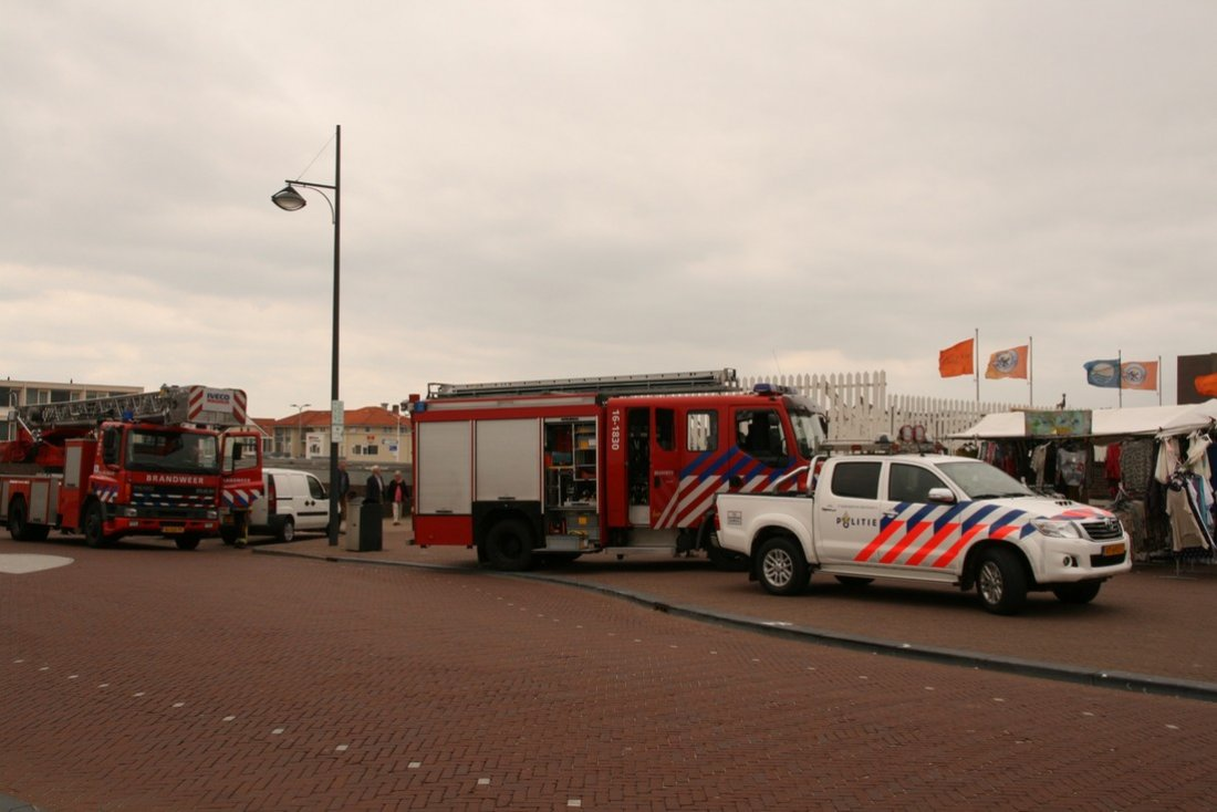 Stormschade Koningin Wilhelmina Boulevard Noordwijk