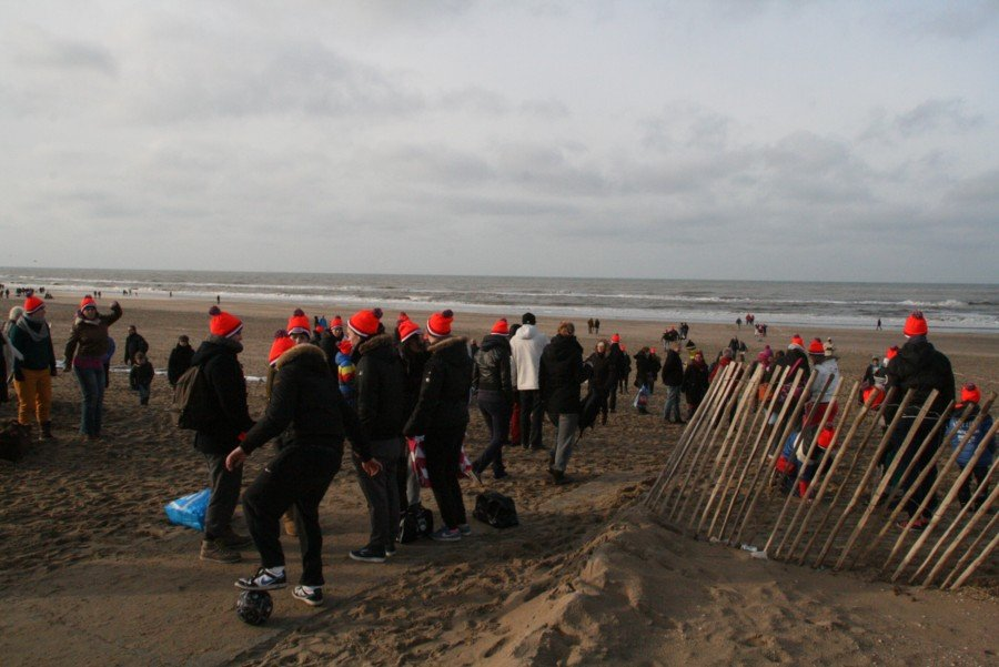 Nieuwjaarsduik 2014 Noordwijk