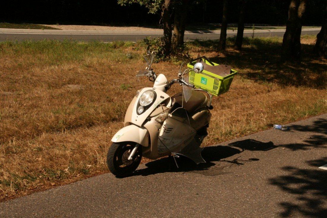 Ongeval scooter Gooweg Noordwijk