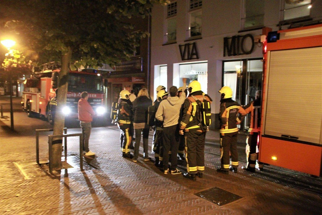 Melding gebouwbrand Hoofdstraat Noordwijk