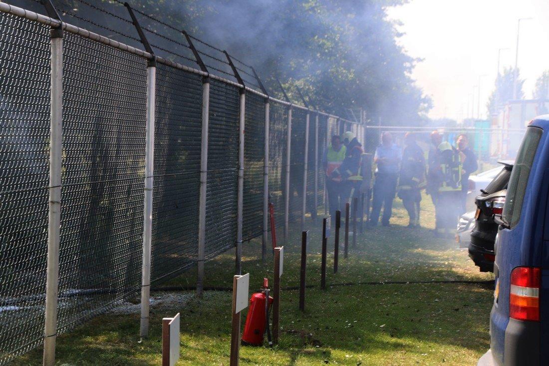 Grasmaaier uitgebrand Rijnsburg
