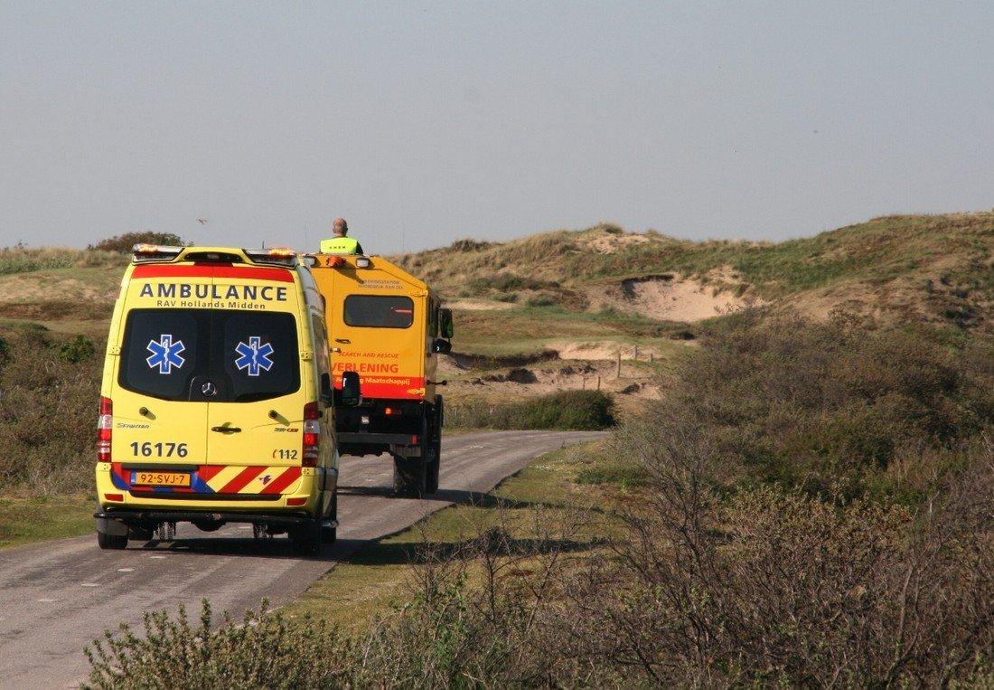 Vrouw komt ten val op het fietspad Hollands Duin Noordwijk