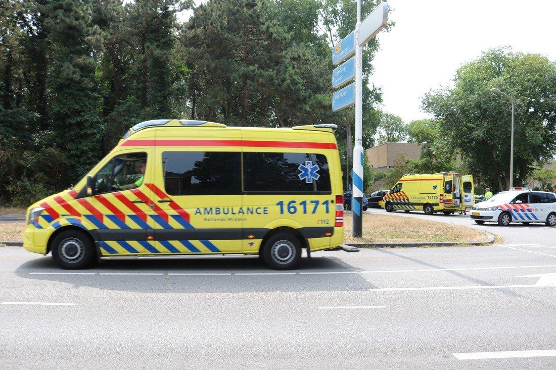 Ongeval auto/fietsster Zeeweg Katwijk