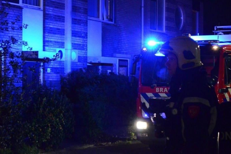 Gebouwbrand woning (VK:) C.J. Speelmanstraat 10 Sassenheim