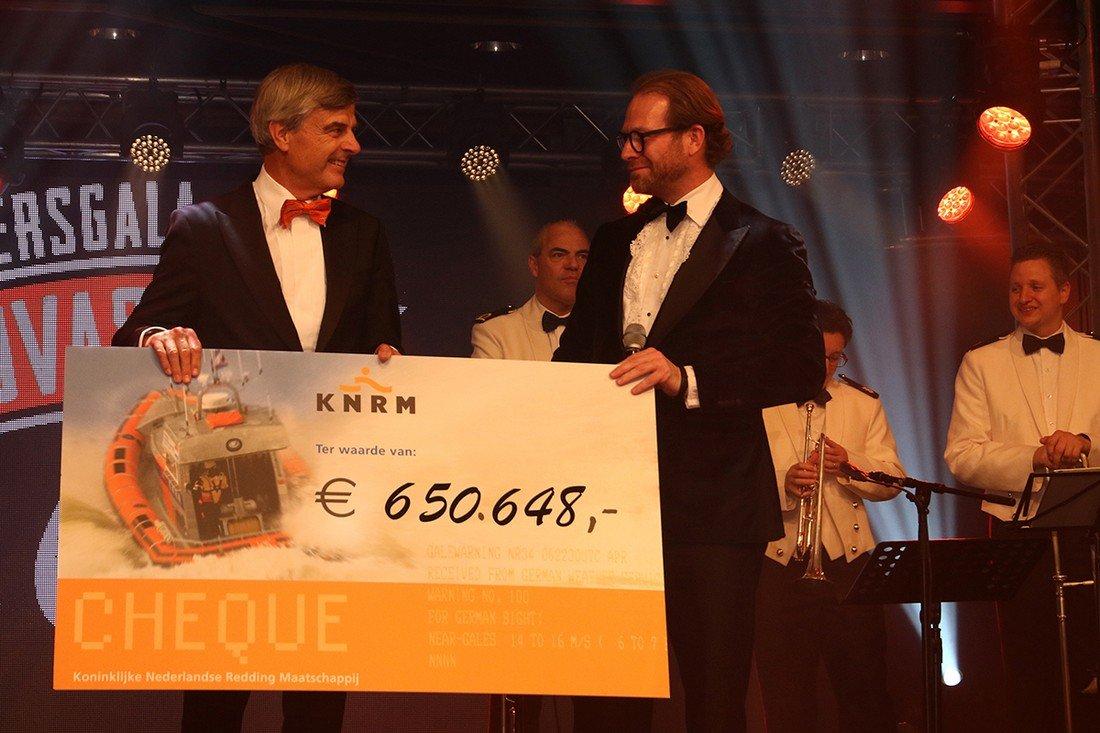 Het jaarlijkse KNRM-benefietgala brengt €650.648,- op
