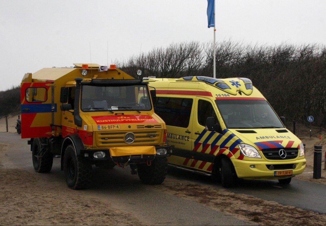 Vrouw raakt gewond strand Noordwijk