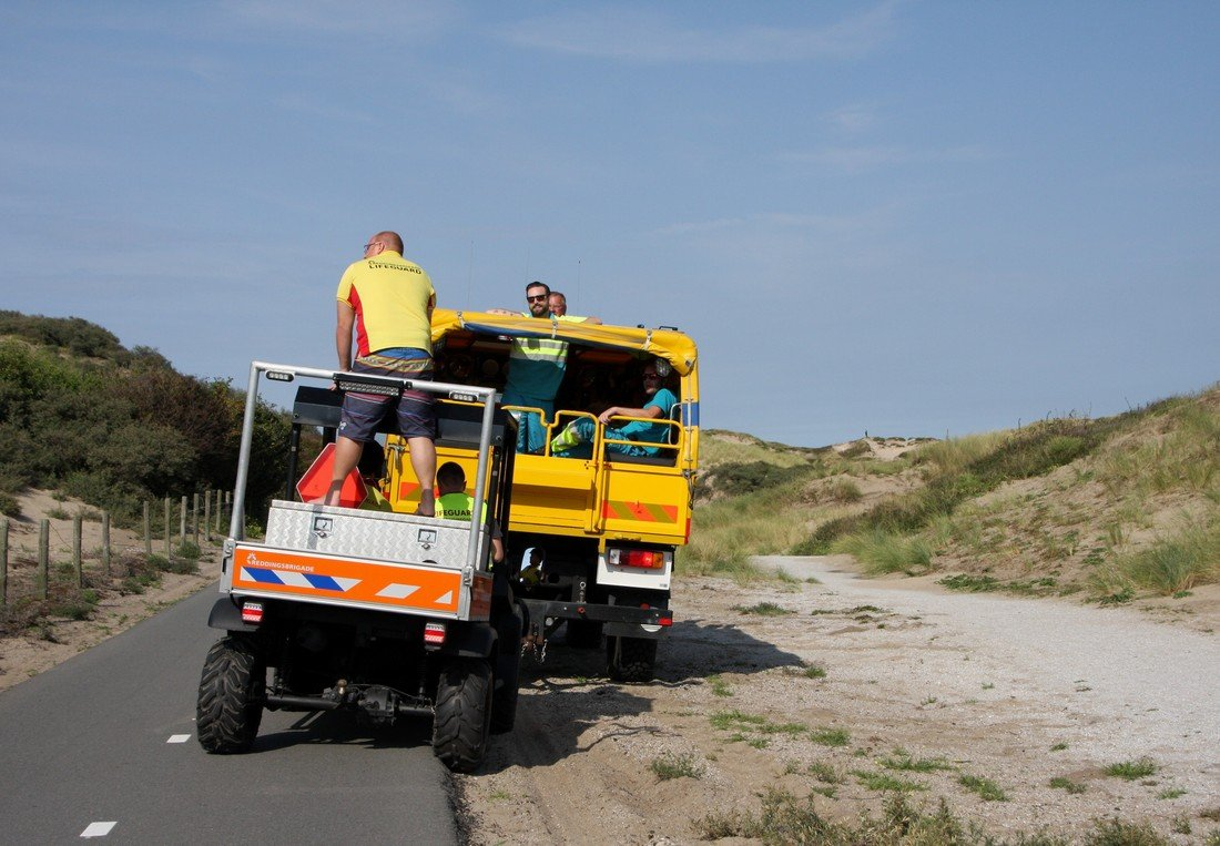 Zoekactie naar paraglider duingebied Katwijk / Noordwijk