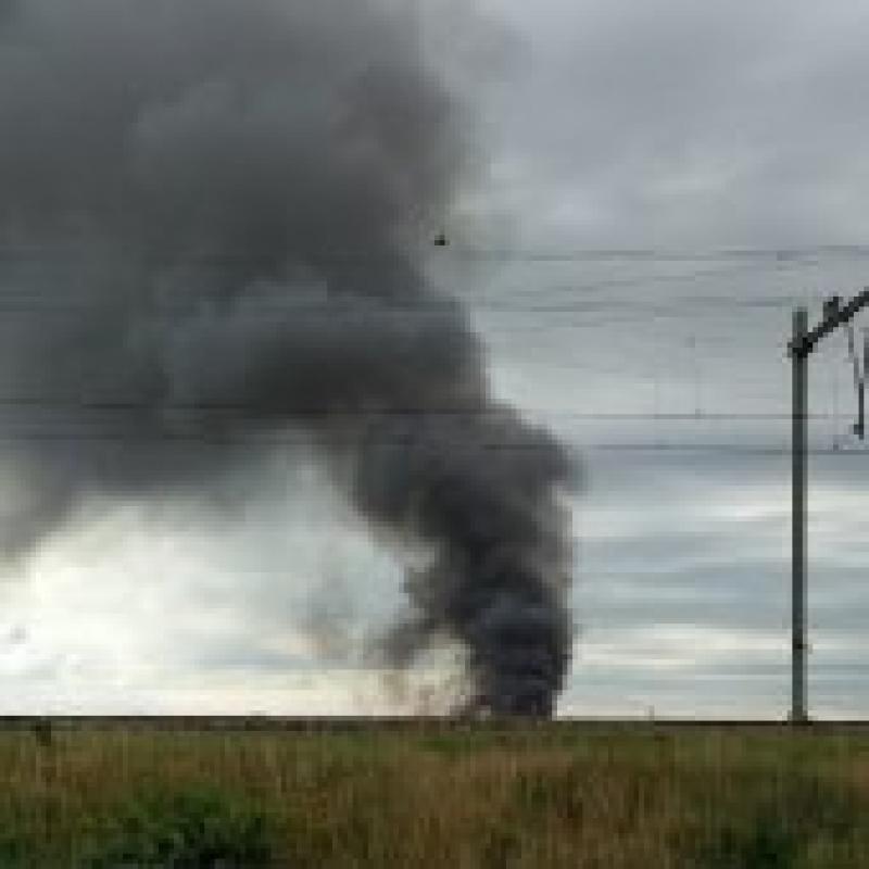 P1 Gebouwbrand aflossing Zeer grote brand Weeresteinstraat Hillegom