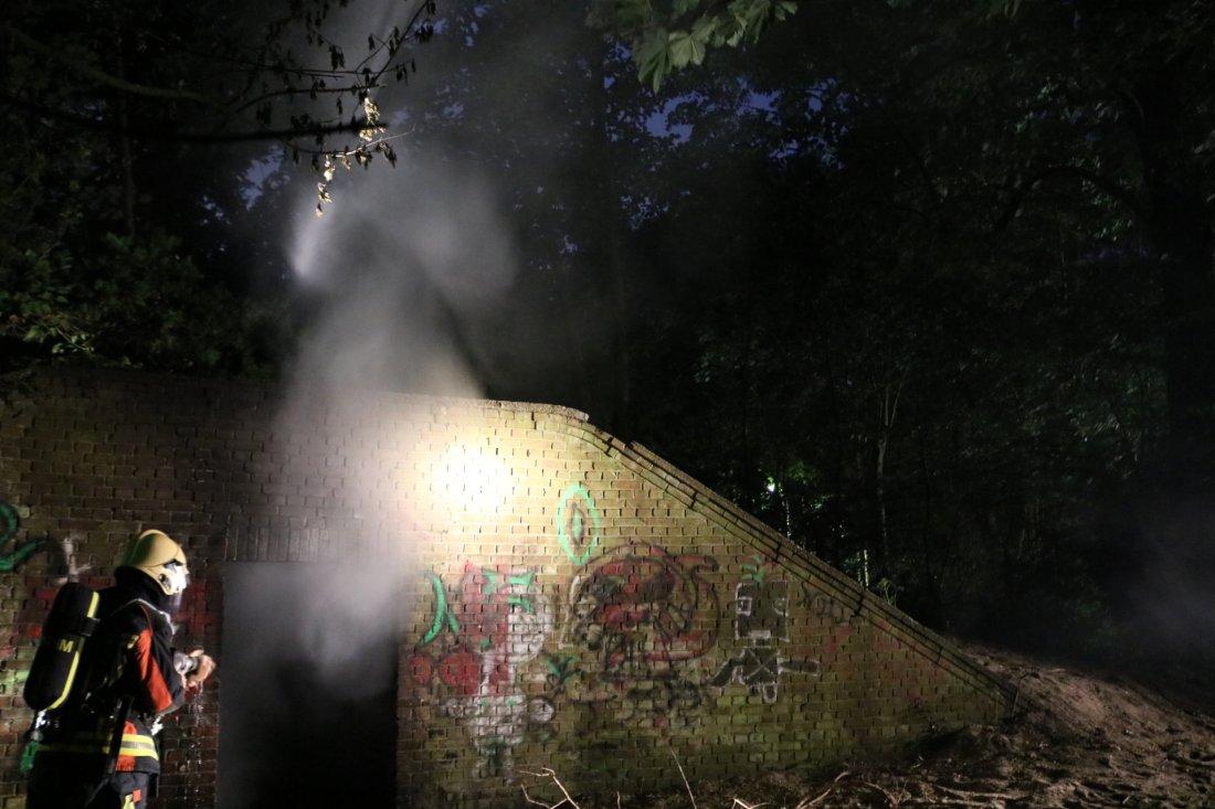 Scooter in de brand Zeereep Noordwijkerhout