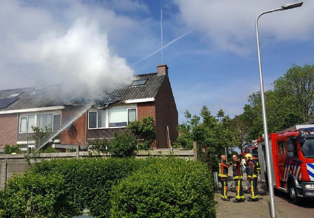 Woningbrand Pieter de Hooghstraat Voorhout