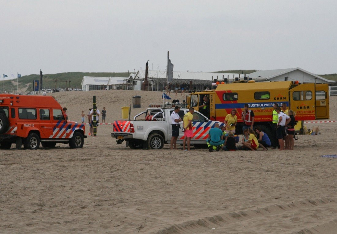 Inzet Kusthulpverleningsvoertuig KNRM Noordwijk