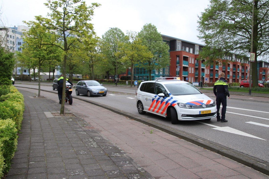 Ongeval Motor met auto Parklaan Sassenheim