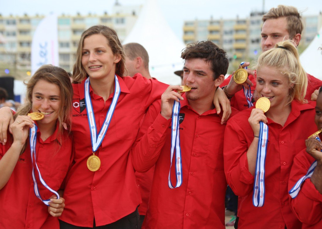 Medaille uitreiking WK lifesaving 2016 (SLOT)