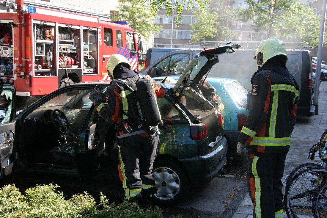 Autobrand Joseph de Veerstraat Noordwijk
