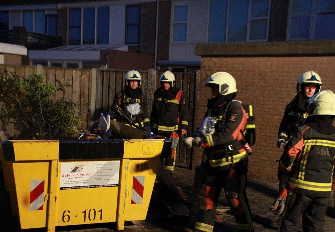 Containerbrand Zeekoet Noordwijk