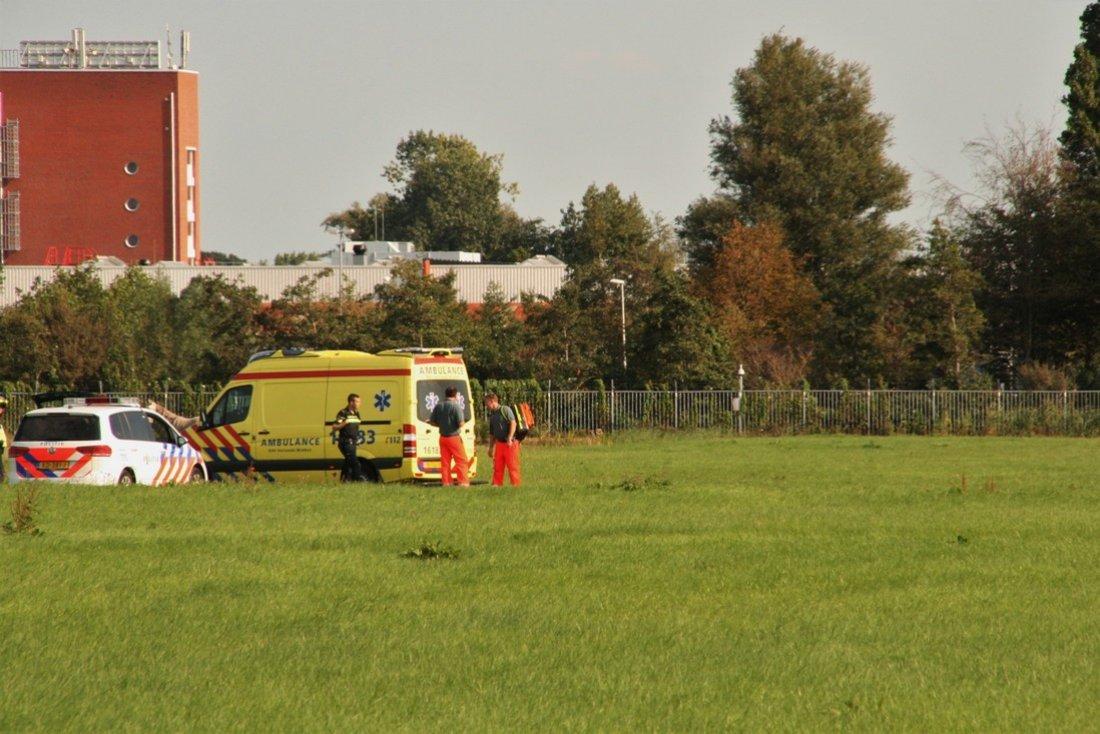 Traumaheli inzet 2e Elsgeesterweg in Voorhout