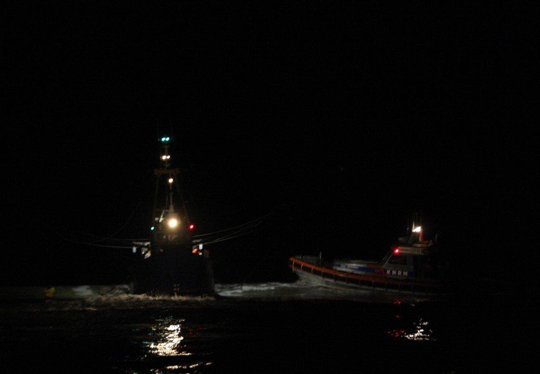 Vaartuig aan de grond Noordwijk