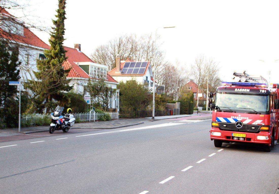 Brand in tuinhuis Hoofdstraat Sassenheim