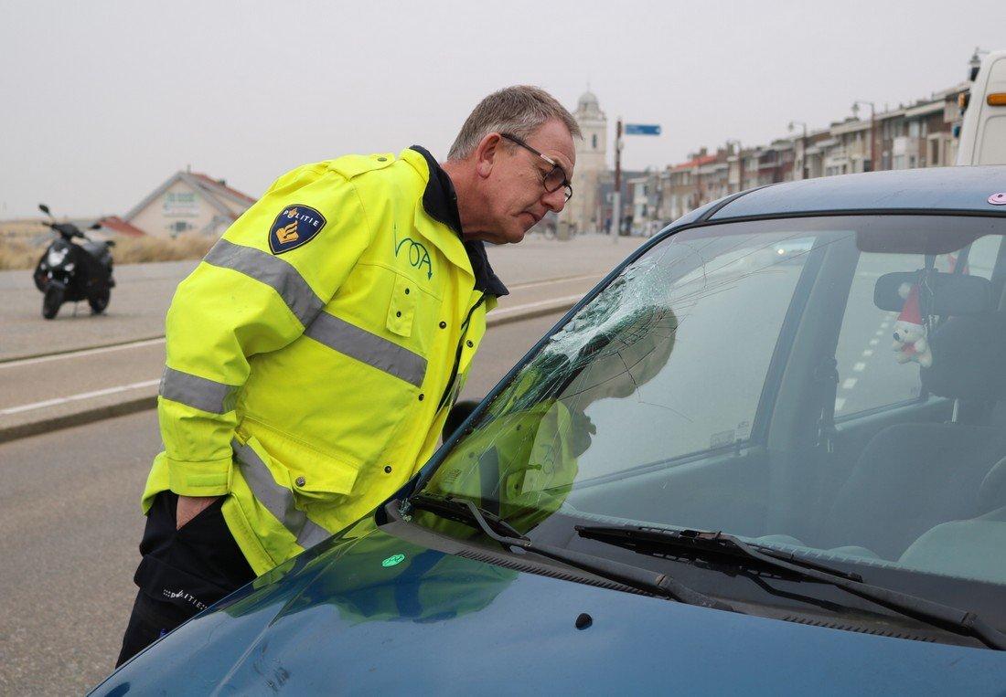 Ongeval fietser/auto Boulevard Katwijk
