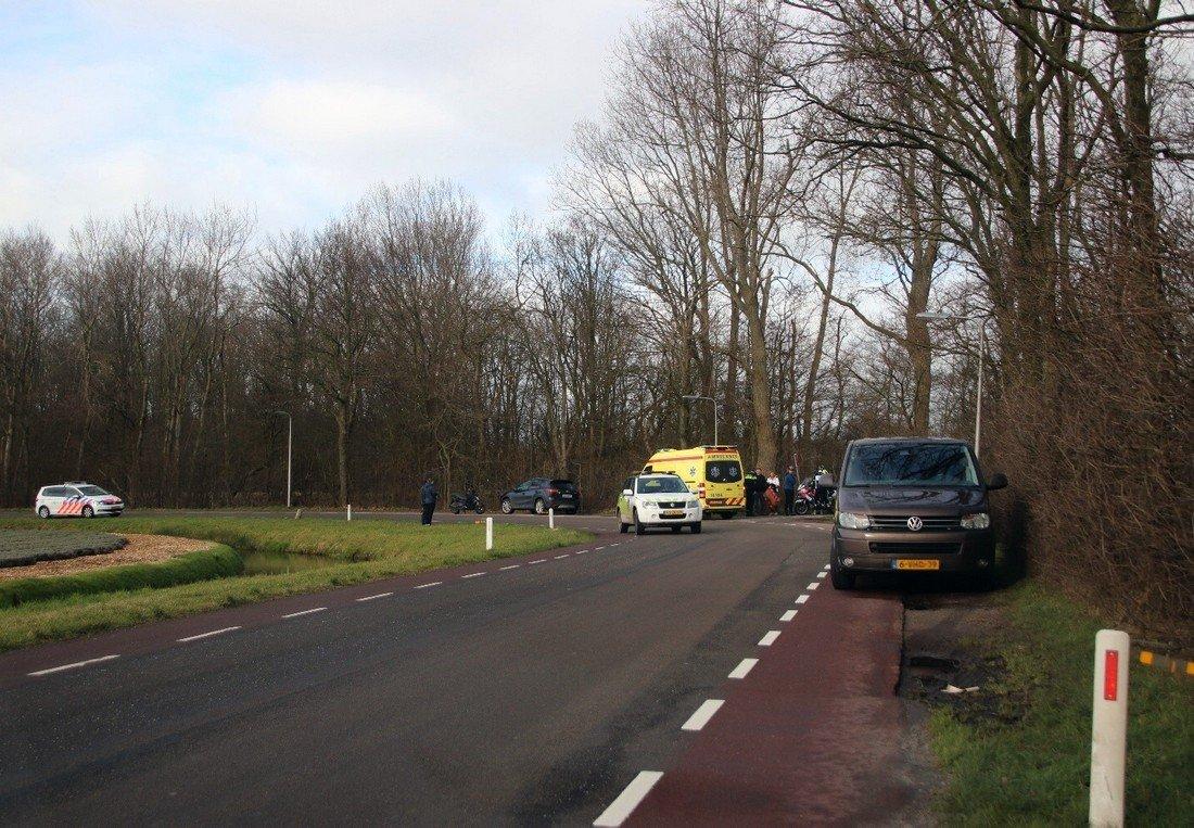 Wielrenner komt hard ten val Vogelaardreef Noordwijk