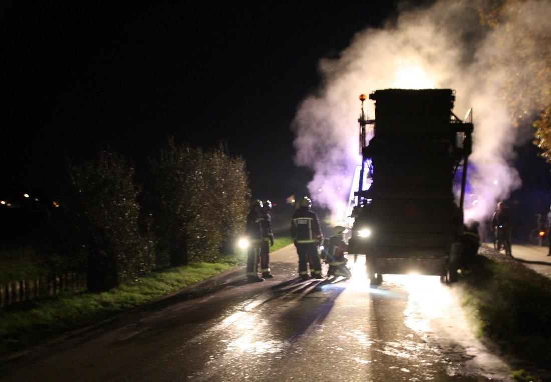 Voertuigbrand Schulpweg Noordwijkerhout
