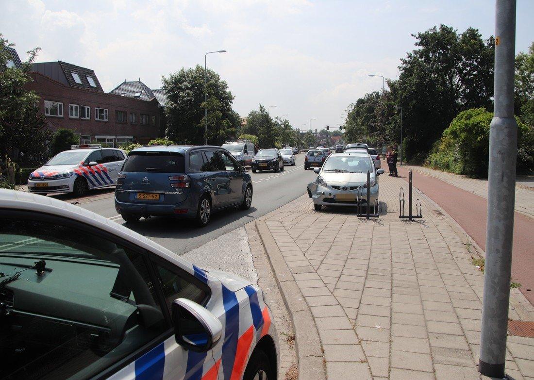 Kettingbotsing Leidsestraat N208 Hillegom