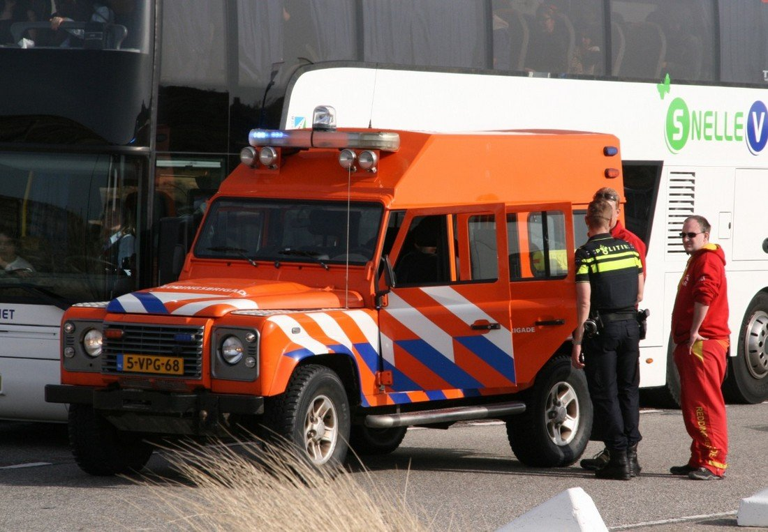 Reddingsbrigade assisteert bij ongeval Langevelderslag Noordwijk