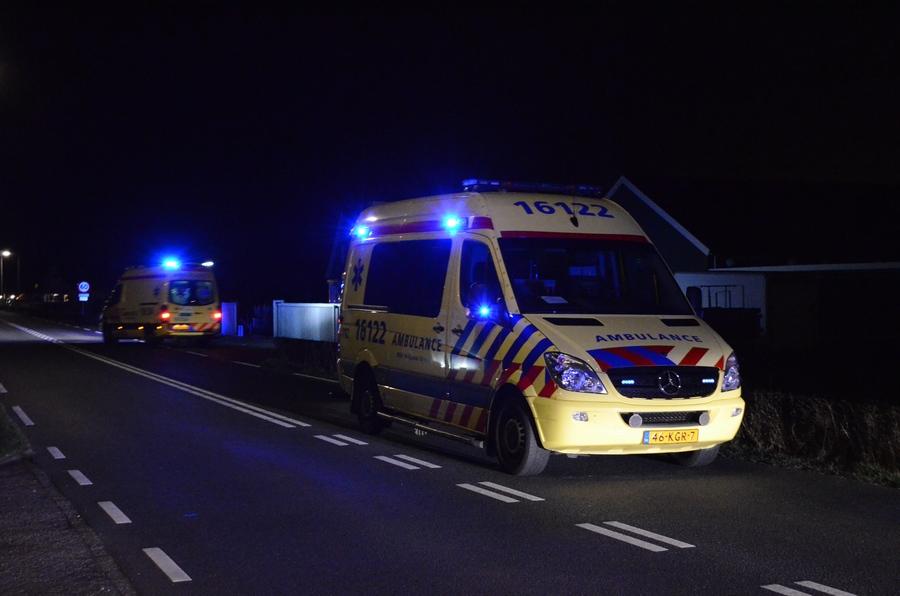 Ernstig ongeval tussen scooter en een voetganger op de Delfweg in Noordwijkerhout