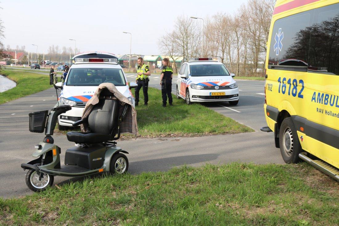 Scootmobiel komt ten van Berckelweg N444 Noordwijk