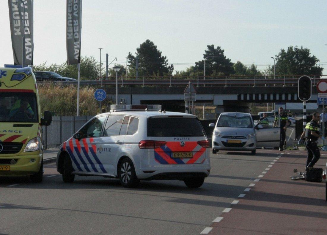 Ongeval auto fietsster Wasbeeklaan Sassenheim