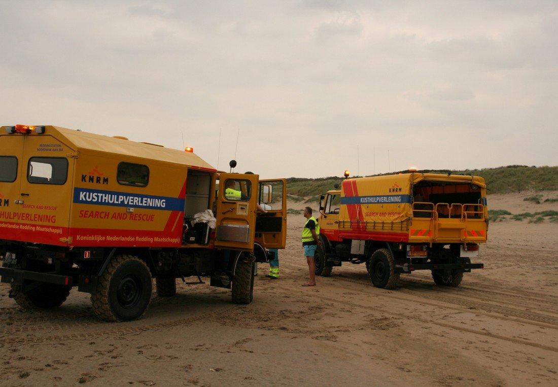 Inzet Kusthulpverleningsvoertuig KNRM Noordwijk - Katwijk