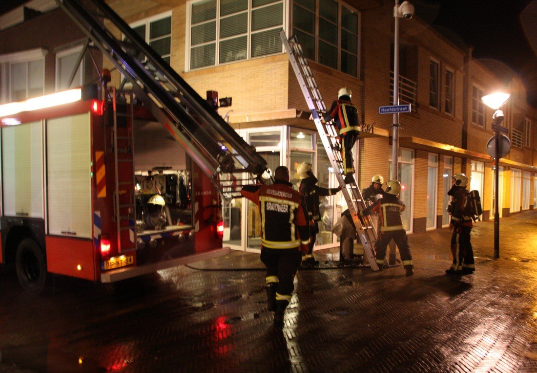 Prullenbak in brand Hoofdstraat Noordwijk