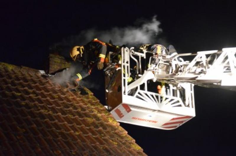 P 1 Gebouwbrand woning (schoorsteen) Teylingerlaan 23 Voorhout