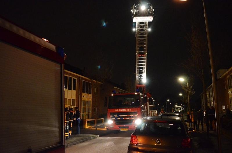 Gebouwbrand woning (schoorsteen) Concordiastraat 30 Sassenheim