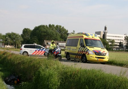 Ongeval motor / fietser Westeinde Noordwijkerhout