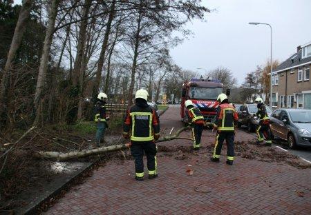 Stormoverlast Buurweg Noordwijk