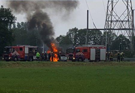 Autobrand Rijkssstraatweg Sassenheim