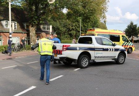 Ongeval auto /scooter Rijnstraat/ Zeeweg Katwijk