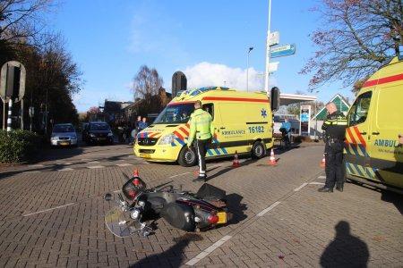 Ongeval Scooter met fiets Herenweg Warmond