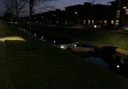 Auto te water Overbeek Noordwijk