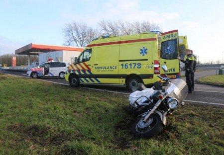 Ongeval auto/motor A44 Sassenheim