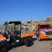 Wielrenster komt ten val afrit Willy Zuid in Katwijk
