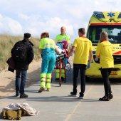 Vrouw raakt gewond op strandafrit Katwijk