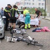 Ongeval auto / wielrenner Koningin Astrid Boulevard Noordwijk