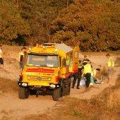 Amazone gewond na trap paard Duindamseslag Noordwijk