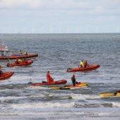 Zoekactie naar vermiste jongen voor de kust van Noordwijk