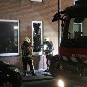 Woningbrand Langevaart Rijnsburg