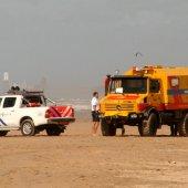 Vrouw valt van paard en raakt hierbij gewond strand afrit 25 Noordwijk