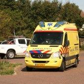 Ongeval auto fietsster Beethovenweg Dennenweg in Noordwijk